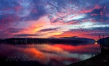 Sunset Fire Panorama