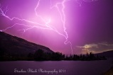 Lightning in the Columbia Gorge