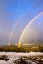winter rainbow, Pucker Huddle