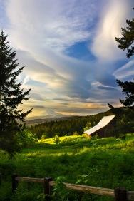 WIld Skies over Mount Adams