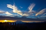 Dancing Diva clouds over Mount St Helens