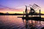 Fish Wheel Sunset-