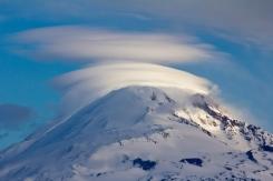 Lit Up Lennies over Mount Adams