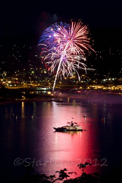 2012 Fireworks over Hood River, Oregon