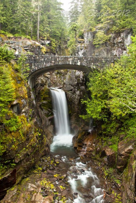 Christine Falls at Mount Rainer National Park