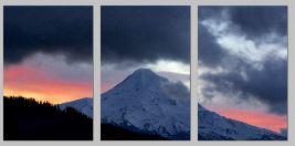 MtHoodStormySunset triptych - Copy