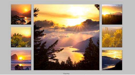 Sunset FilmstripTriptych