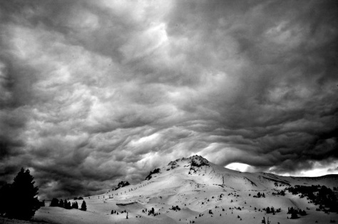 Under the Storm Cell on Mount Hood