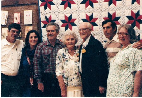 50th Wedding Anniversary (I think, or 60th?) The Quilt on the wall may have been one of Mom's