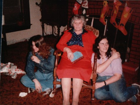 My friend Debbie, Mom and myself in around 1986