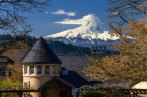 Mount Hood with Lenticular clouds