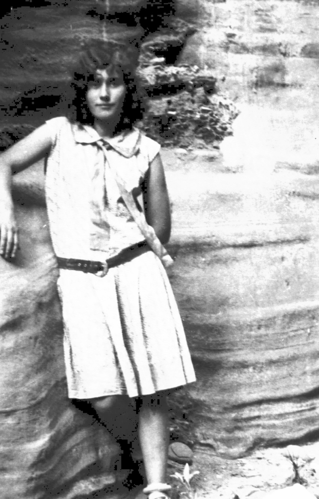 Nina as a young girl