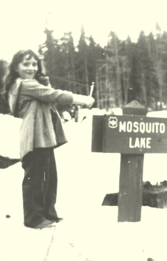 I don't remember many times I was at Mosquito Lake in snow, but here is proof it happened!