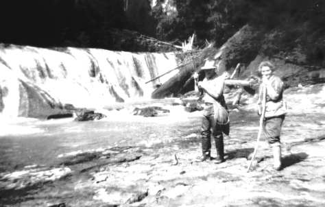 Claude and Nina at Lower Falls