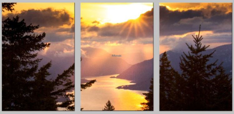 Portrait Triptych Split Golden Gorge Rays