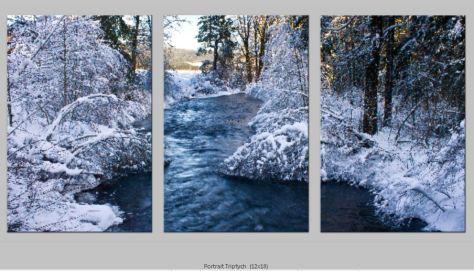 Trout Creek Winter PortraitTriptych