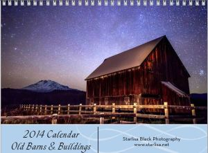 Cover for Old Barns and Buildings.  Click to learn more about all three calendars.