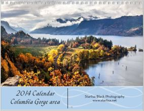Cover of the Columbia Gorge Area calendar.  Click on the image to see more information