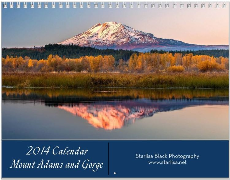 Cover Mount Adams Calendar.  Click on image for more information on calendars!