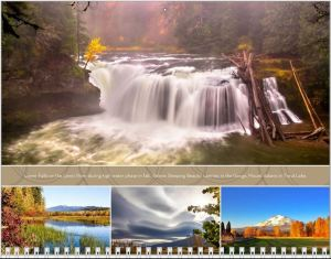 November calendar page in the Mount Adams and Gorge calendar