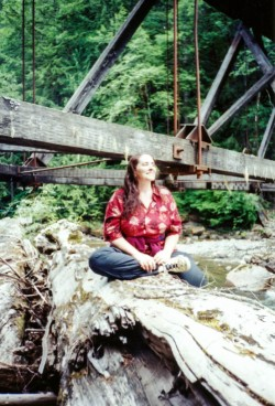 me under the old bridge torn half down when I was a kid, it did not collapse fully until a couple years ago.