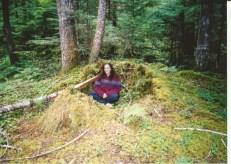 When I was little, this old Cedar stump would get covered every year with branches and ferns and become a fort. Younger nephews and nieces carried on the tradition, and gradually the stump wore down.
