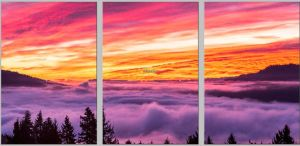 "This Triptych has been printed on Metal, and each panel is 16x24"" in size, giving a combined wall size of 50x24"". For the Months of February and March this will be on display at North Shore Cafe in White Salmon, Washington with many other of my images."