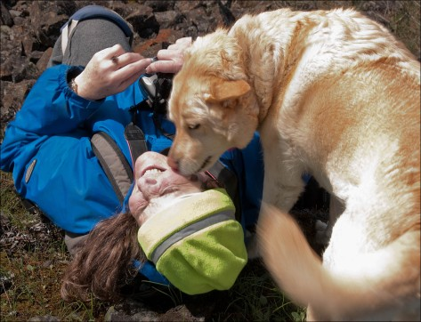 Another photo of me and my old dog Rio in the wilds, taken by my friend Victor Vonsalza Gosh I miss that doggie!