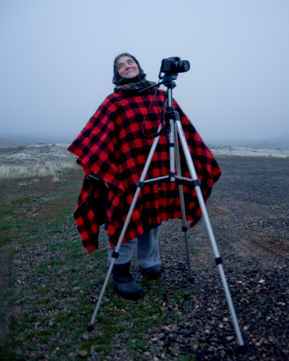 LOL and I must include this one of me in the foggy Painted Hills one early dawn, taken by my Bro Larry Andreasen
