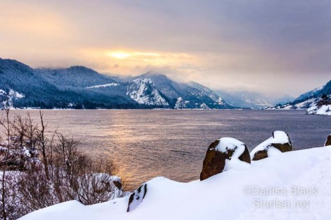 Columbia River Winter Sunset, taken from the Spring Creek National Fish Hatchery