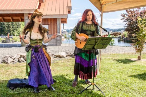 Celtic Musician Leannan Sidhe performing with Dara Korra'ti  at the Glastonbury Renaissance Faire in Toledo, Oregon along the Oregon Coast. Mother's Day weekend 2014