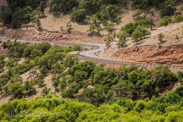 Through the Rock Creek Canyon on Bickleton Highway