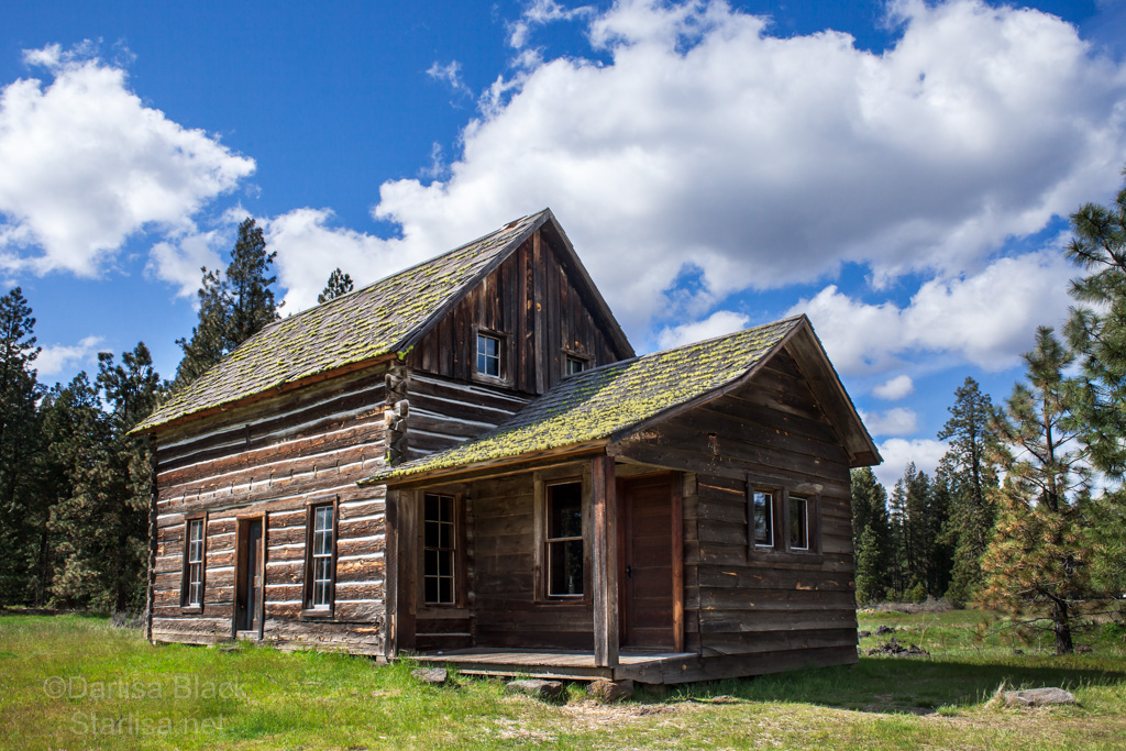The Whitcomb-Cole Hewn Log House at Conboy Lake National Wildlife Refuge near Glenwood, Washington.