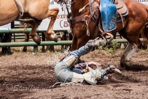 Not the best Rodeo ride!  That horse was pretty fierce
