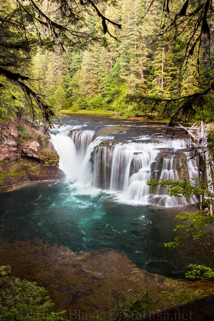 Lower Falls on the Lewis River  at Dusk, Gifford Pinchot National Forest, Washington state