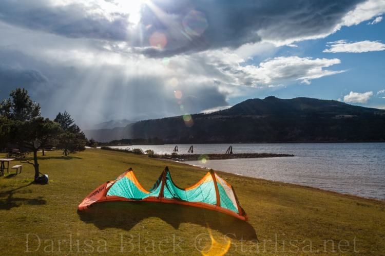 Sails and Rays in Hood River, Oregon
