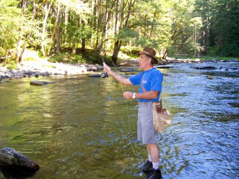 My brother Boyce fishing near the camp