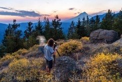 Photographer Hudson Henry on Flag Mountain