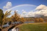 Rainbow Gift over White Salmon, Washington