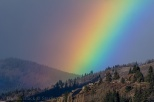 Rainbow Gift over White Salmon, Washington