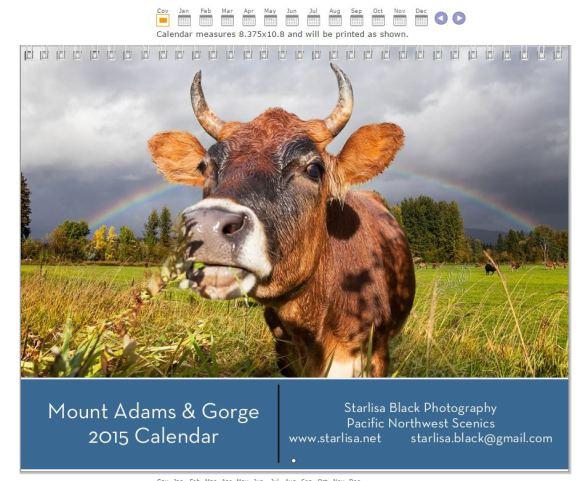 2015 Mount Adams and Gorge Calendar.