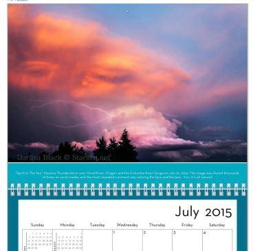 2015 Calendar Mount Adams and Gorge