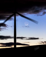Sliver Moon and WIndmill