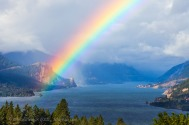 Rainbow Guardian of the Columbia River Gorge